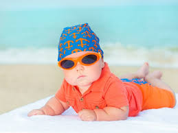 Babies need sunglasses to protect their eyes